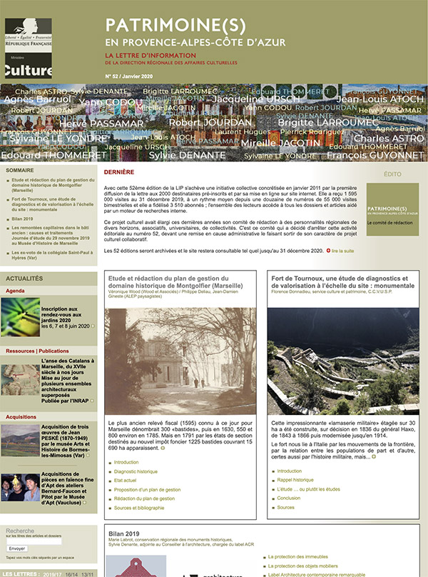 Patrimonine en PACA newsletter